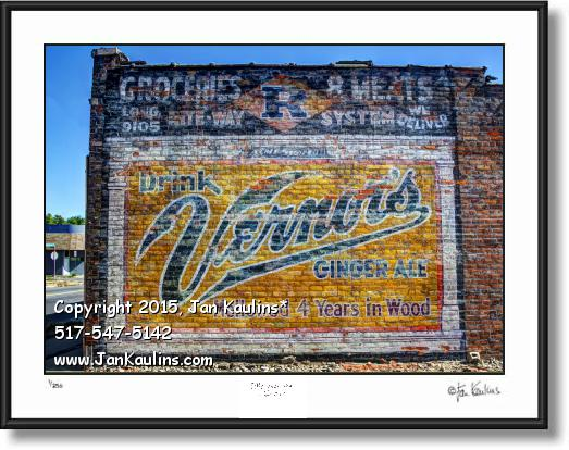 Click on this image to see an enlarged view of VERNORS mural Vernor's Ginger Ale mural photo.