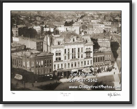 Click on this image to see an enlarged view of Original DETROIT OPERA HOUSE 1885 photo  print.