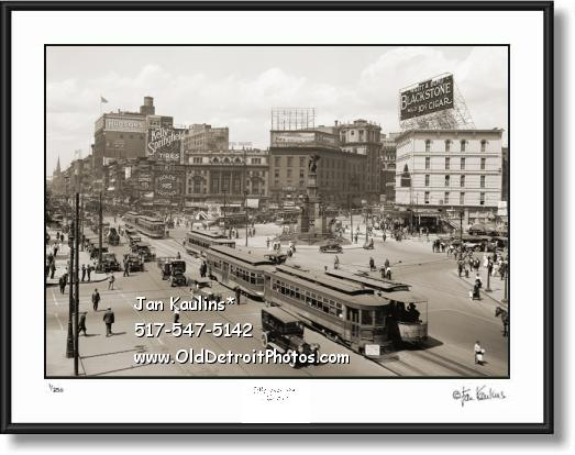Click on this image to see an enlarged view of OLD WOODWARD AVENUE DETROIT photo print.