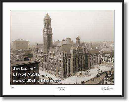 Click on this image to see an enlarged view of OLD POST OFFICE DETROIT photo print picture.