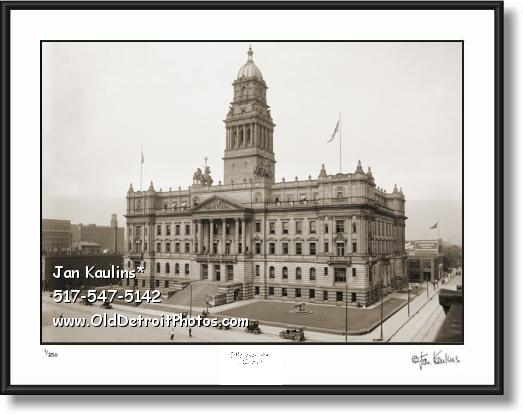 Click on this image to see an enlarged view of WAYNE COUNTY BUILDING old Detroit photo.