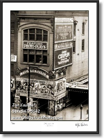 OLD DETROIT THEATRE ROYALE photo print