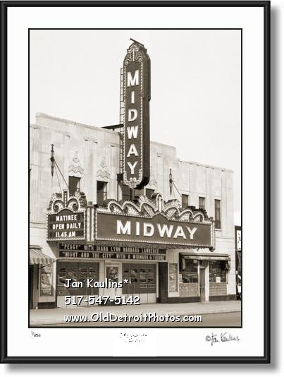 Old Detroit Theater MIDWAY photo pictue print
