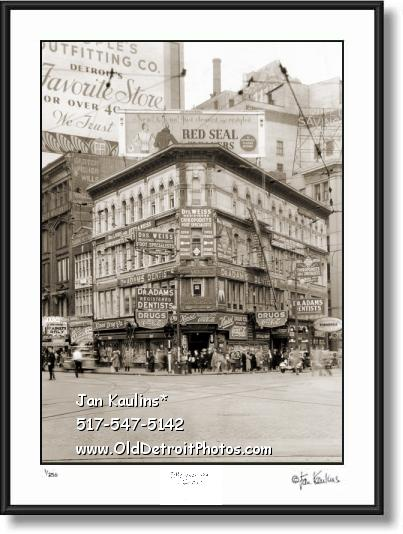 KINSEL DRUG STORE Detroit 1934 photo print
