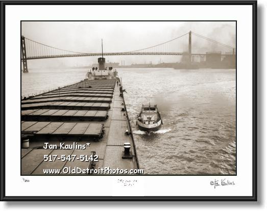 Click on this image to see an enlarged view of Detroit US Mail Boat G.F. Becker 1946 photo print.