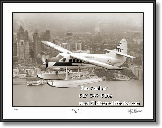AERIAL DETROIT SEAPLANE 1956 photo print