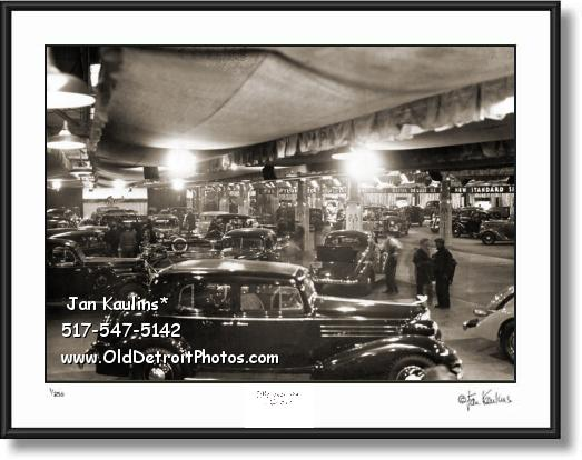 Click on this image to see an enlarged view of Old DETROIT AUTO SHOW 1935 Auto Show photo.