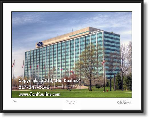 Click on this image to see an enlarged view of FORD MOTOR CO World Headquarters photo print.