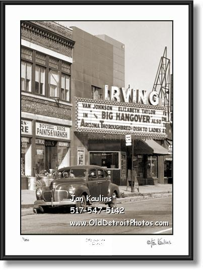 Vintage DETROIT IRVING THEATER photo print