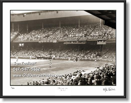 Click on this image to see an enlarged view of BRIGGS STADIUM Interior 1950 photo picture print.