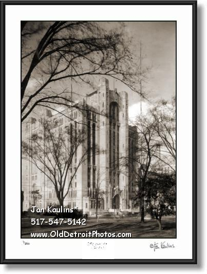 DETROIT MASONIC TEMPLE OLD 1930 photo print