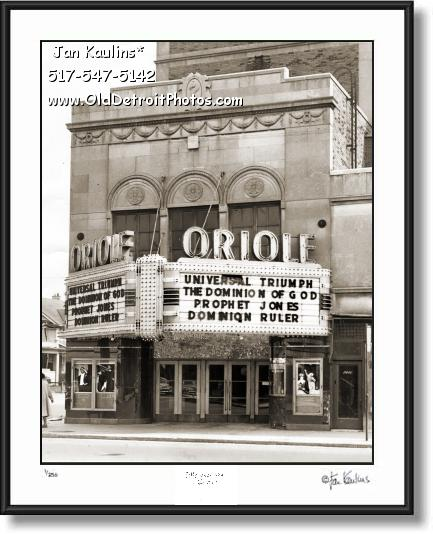 ORIOLE THEATER DETROIT photo picture print