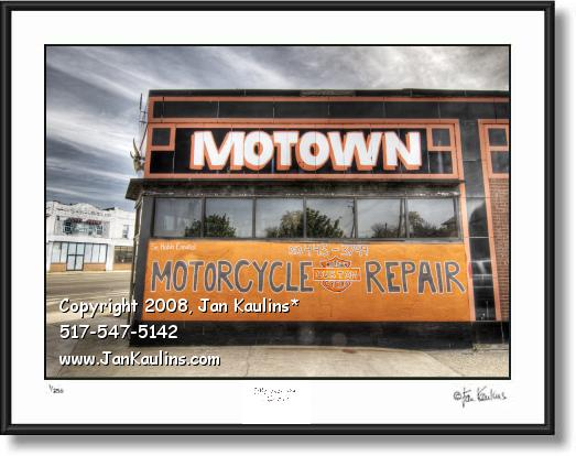Click on this image to see an enlarged view of MOTOWN Harley Davidson Motown photo print.