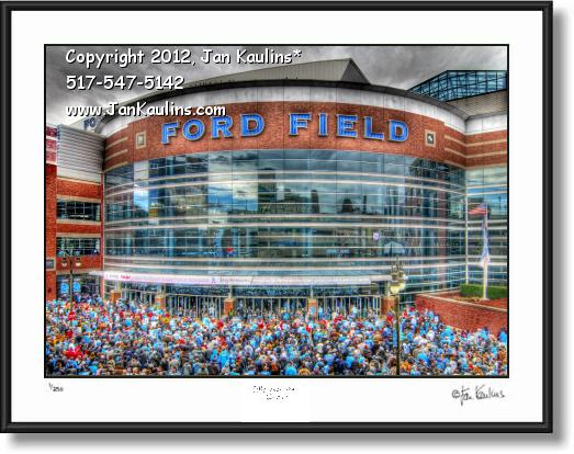 Click on this image to see an enlarged view of FORD FIELD Ford Field Detroit photo picture print.