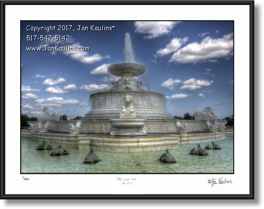 Click on this image to see an enlarged view of BELLE ISLE SCOTT FOUNTAIN photo art print.