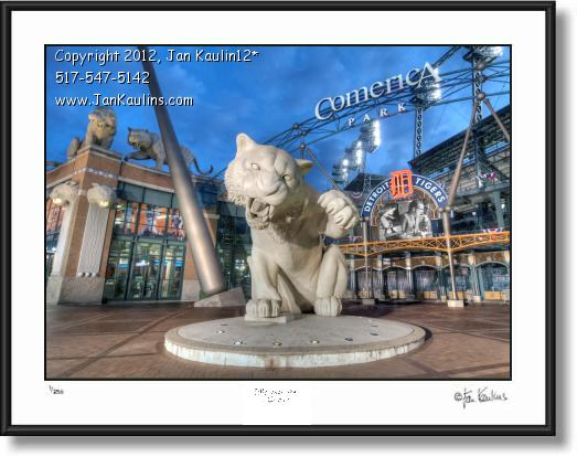 Click on this image to see an enlarged view of COMERICA PARK FRONT ENTRANCE photo print.