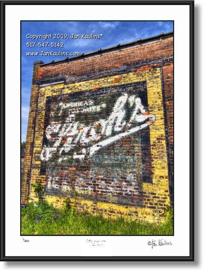 Click on this image to see an enlarged view of STROHS Ghost Sign mural DETROIT photo art print.
