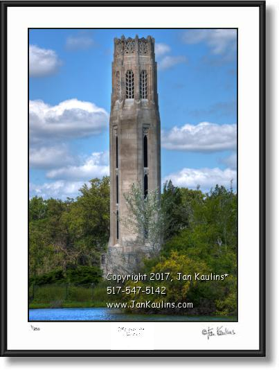 Click on this image to see an enlarged view of BELLE ISLE DETROIT Memorial Tower photo print.