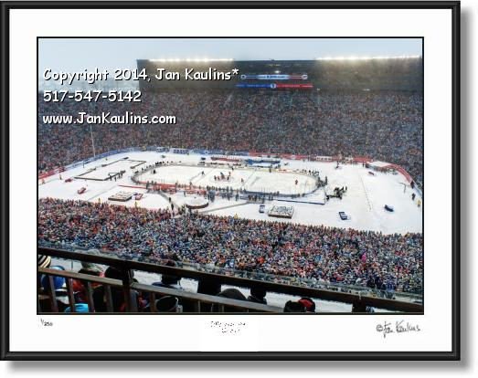 Click on this image to see an enlarged view of WINTER CLASSIC 2014 UofM Stadium photo print.