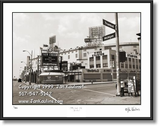 Click on this image to see an enlarged view of MICHIGAN and TRUMBULL The Corner photo print.