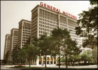 Click on this image to see an enlarged view of General Motors Bldg Detroit photo picture print.