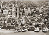 Click on this image to see an enlarged view of Old Detroit aerial photo  Old Detroit picture photo.