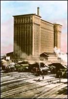 Click on this image to see an enlarged view of Detroit Train Depot photo  Michigan Central Depot.